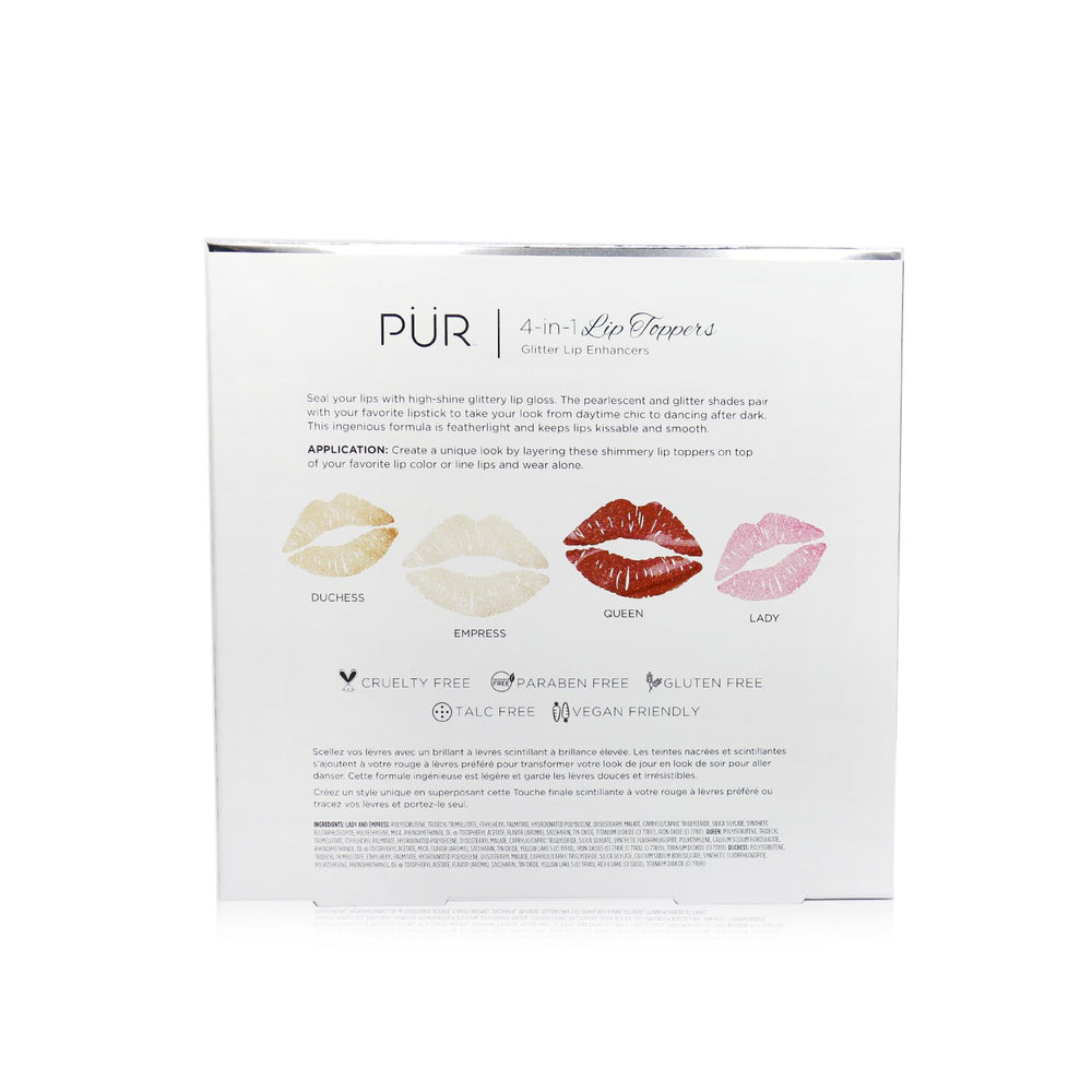 Load image into Gallery viewer, 4 In 1 Lip Toppers Glitter Lip Enhancer Kit (4x Lip Topper) 246522