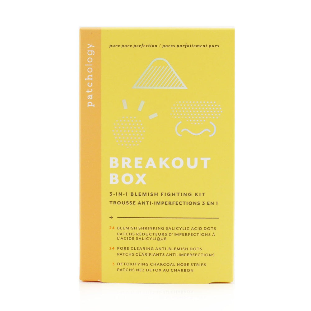 Breakout Box 3 In 1 Blemish Fighting Kit: Blemish Shrinking Dots, Ant Blemish Dots, Charcoal Nose Strips, Storage Sachets For Dots