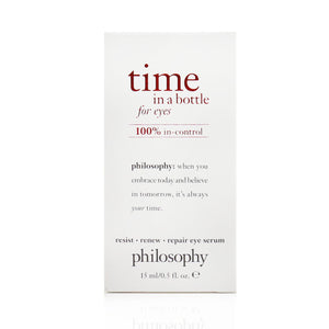 Time In A Bottle For Eyes Serum   100% In Control