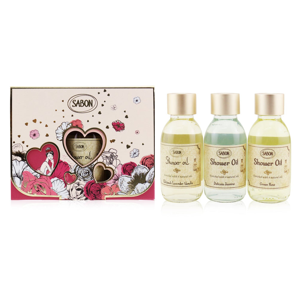 Shower Oil Trio Kit: Patchouli Lavender & Vanilla 100ml + Delicate Jasmine 100ml + Green Rose 100ml 249593