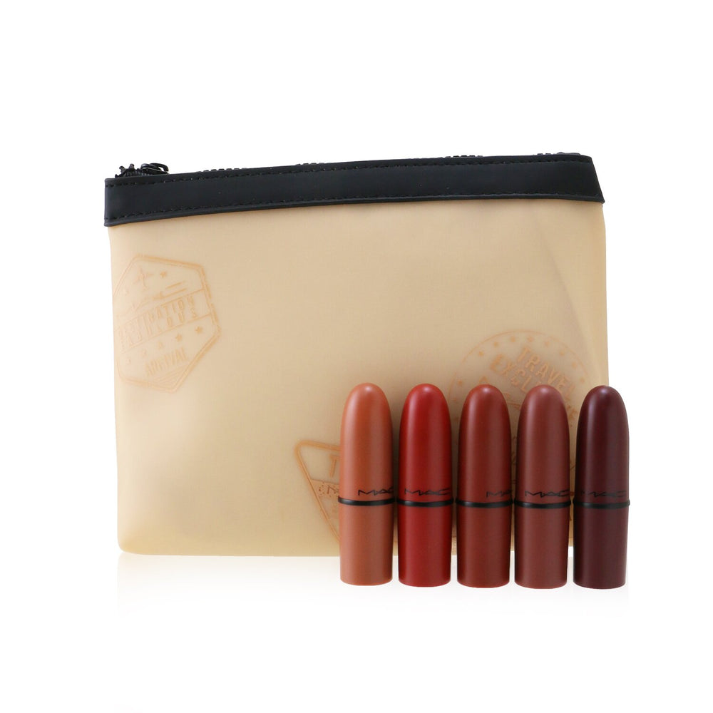 Travel Exclusive Mini Lipsticks Set (5x Mini Lipstick + 1 Bag) #Bold 256150
