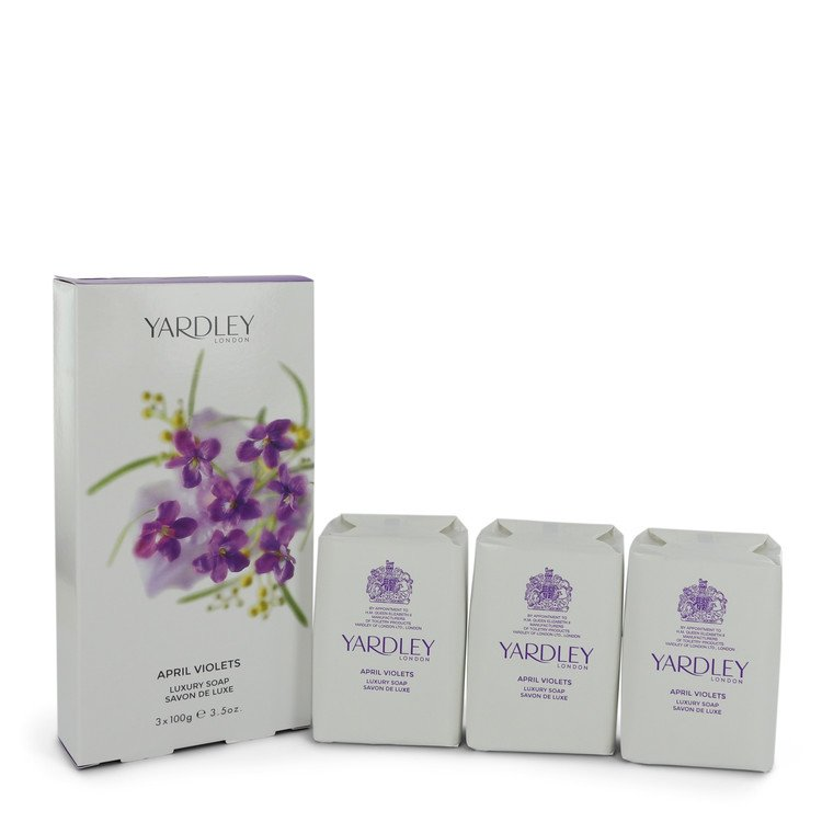 Load image into Gallery viewer, April Violets 3 X 3.5 Oz Soap By Yardley London   545680