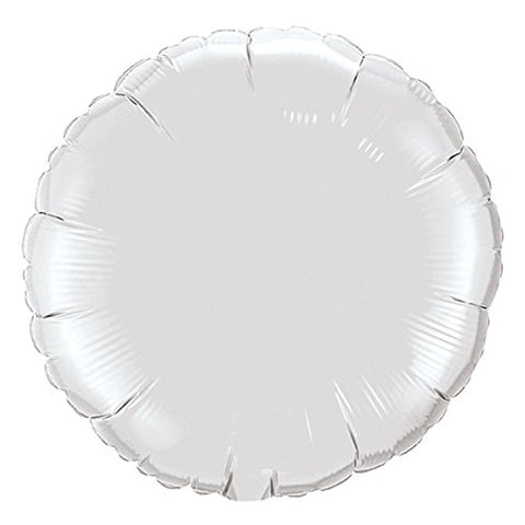 Lot Of 10 White Round Shape Foil Mylar 18 Balloon Birthday Party Decoration