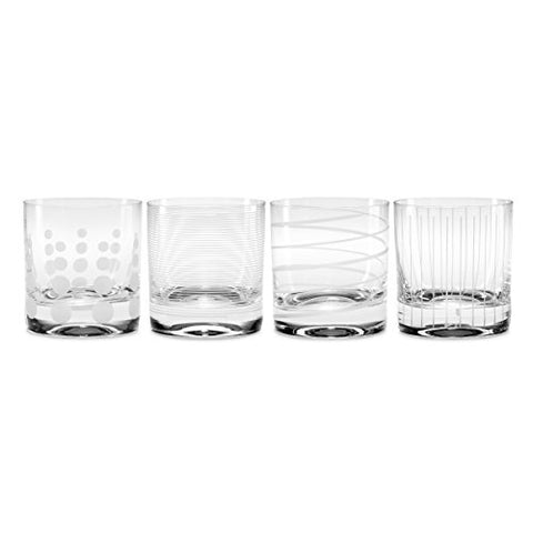 Mikasa Cheers Double Old Fashioned Glass, 13.5-Ounce, Set Of 4