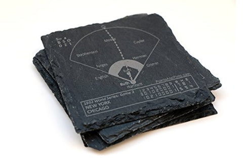 Yankees Vintage Greatest Plays - Slate Coasters (Set Of 4)