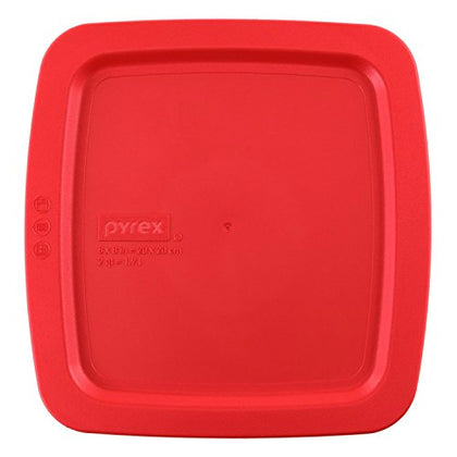 Pyrex Easy Grab Red Plastic Lid Cover For 8 Square Baking Dish 8X8
