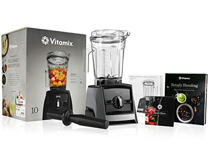 Vitamix A2300 Ascent Series Blender With 64-Ounce Container + Vitamix Simply Blending Blending Recipe Cookbook + Low-Profile Tamper + 10-Year Full Warranty - Slate