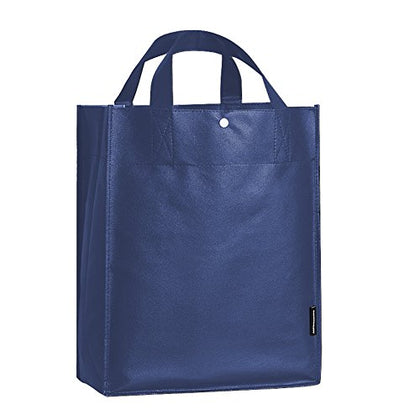 Oricsson Eco Storage Grocery Bag Shopping Tote For Your Own Design, Blue Set Of 10