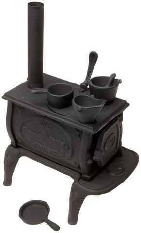 Old Mountain 10142 Black Mini Box Stove Set, With Accessories, 10 1/2 Inch Tall