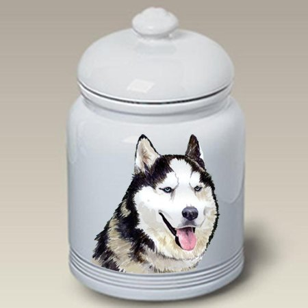 Siberian Husky Grey - Barbara Van Vliet Ceramic Treat Jars
