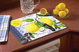 Counterart Lemons & Olives Glass Cutting Board, 15 X 12