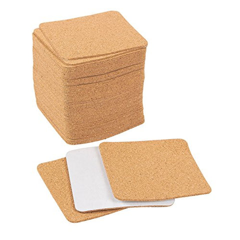 Self-Adhesive Cork Squares - Cork Tiles, Cork Backing Sheets For Coasters And Diy Crafts