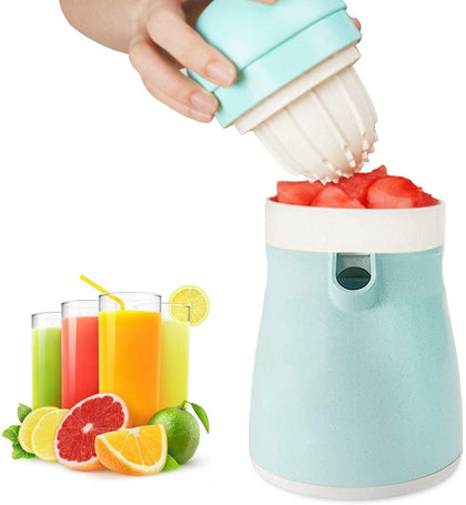 Migecon Manual Orange Juicer Lemon Grape Squeezer Food Grade Plastic Exacter Easy To Use Double Side Extractor For Home
