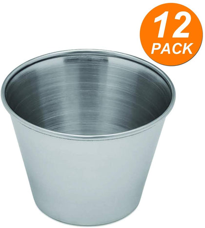Stainless Steel Condiment Sauce Cups, 2.5 Oz. - Great For Dipping And Portion Cups