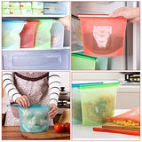 Reusable Silicone Food Storage Bag Set Of 5 - Preservation Storage Container Airtight Seal Cooking Bag Food Grade Storage Bag For Freezing, Heating,Microwave Fruits Vegetable Meat Milk And More