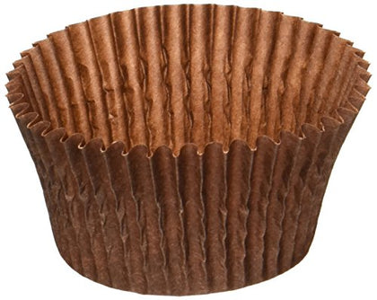 Global Sugar Art Products Baking Cups, Standard, 500 Count, Chocolate Brown