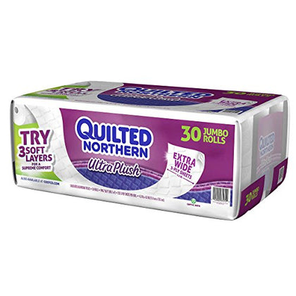 Quilted Northern Ultra Plush Bath Tissue 3-Ply White, 30-Count