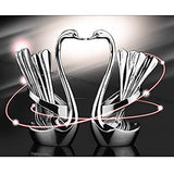 Dinnerware Set, Jorunhe Stainless Steel Fruit/Dessert Flatware Set For 9-1 Swan Base Holder With 4 Forks & 4 Spoons