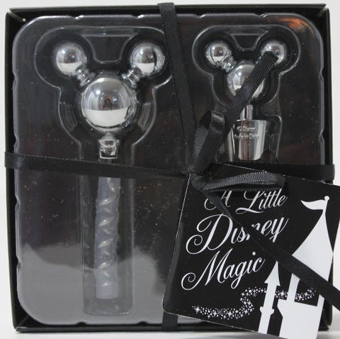 Disney Theme Parks Exclusive Mickey Mouse Icon Corkscrew Wine Stopper Bottle Topper Opener Set