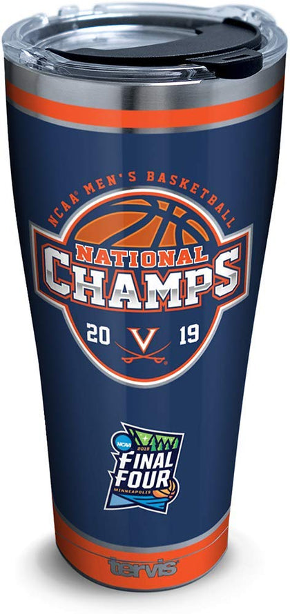Tervis 1328749 Virginia Cavaliers 2019 Ncaa Basketball Champions Insulated Travel Tumbler & Lid, 30 Oz - Stainless Steel, Silver