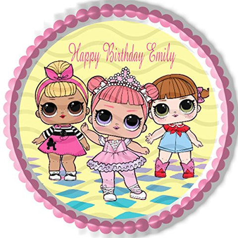 Lol Suprise Dolls (Nr1) - Edible Cake Topper - 10  Round
