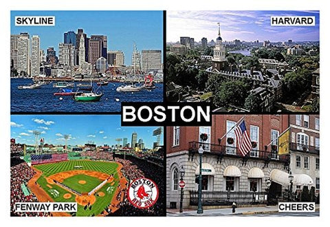 Souvenir Fridge Magnet - Boston Massachusetts Usa 3 X 2 Inches Jumbo