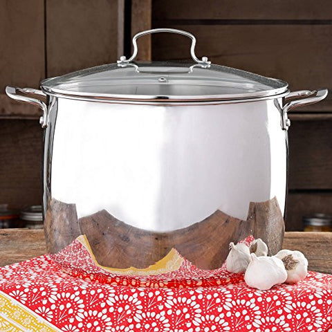 The Pioneer Woman Timeless Beauty Stainless Steel Copper Bottom 16-Quart Stock Pot