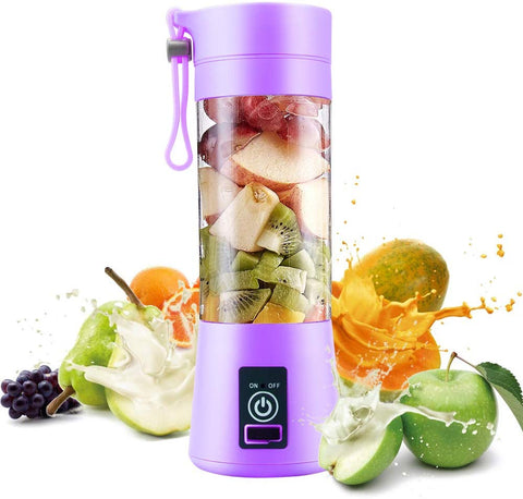 Personal Juice Blender, Electric Usb Portable Juicer Cup For Shakes, Smoothies And Food Prep Portable Juice Machine With 4 Blades, 2000Mah Rechargable Battery