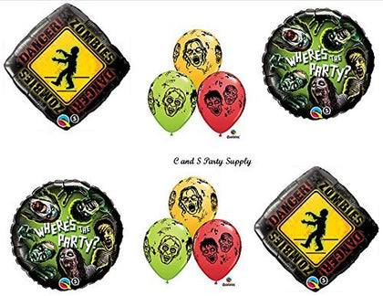 Zombies Walking Dead Zone Birthday Party Balloons Decorations Supplies