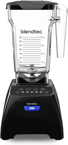 "Blendtec Blender With Fourside Jar, Black Classic 575, 15"" Tall X 8"" Deep X 7"" Wide"