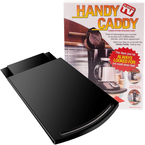 Caddy Sliding Coffee Maker Tray Mat Countertop Appliance Tray Moving Slidercaddy Organizer Under-Cabinet Sliding Shelf For Coffee Machine, Blenders, Mixers, And Toasters With Smooth Wheelsblack