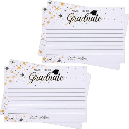50 Pieces Graduation Advice Cards 2019 Graduation Party Wishing Well Cards For College High School Graduation Party, 4 X 6 Inches (Color 1)