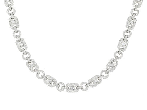 10.00ct Diamond Vintage Style Necklace