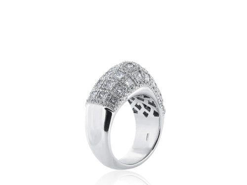 3.47 Carat Diamond Domed Band