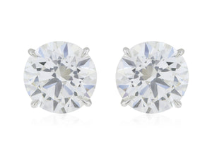 10.04 ct GIA Certified H/SI2 3X Diamond Stud Earrings
