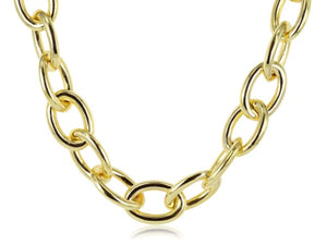 14kt Yellow Gold Oval Link Chain Necklace
