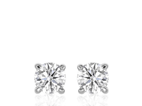 2.04ct Round Brilliant Diamond Stud Earrings
