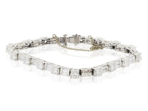 Platinum Diamond 8.50 carat Flexible Bracelet