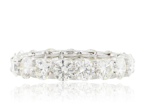 Plat 3.56ctw Diamond Eternity Band