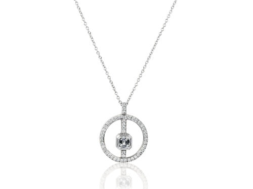 .38 Carat Asscher Cut Diamond Pendant