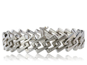 1.50ct Diamond Square Link Bracelet