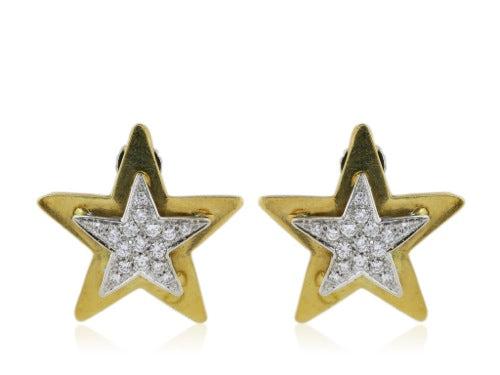 Tiffany & Co. Two-Tone Diamond Star Earrings