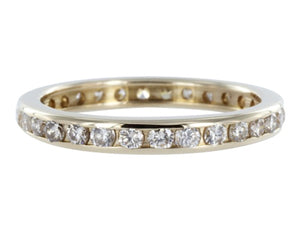 Estate Channel Set Diamond Wedding Band