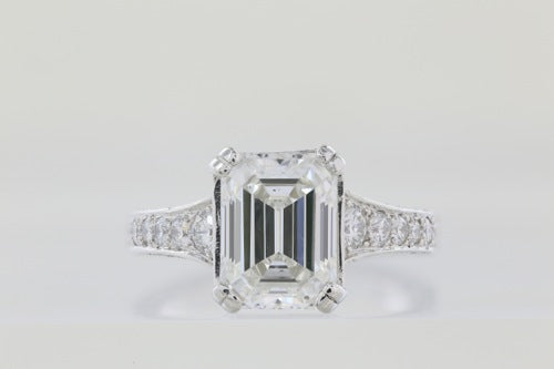 3.33 ct Emerald Cut GIA H VS1 Diamond Ring