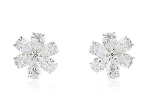 12.31ct Pear Shape Diamond all GIA certified Cluster Earrings