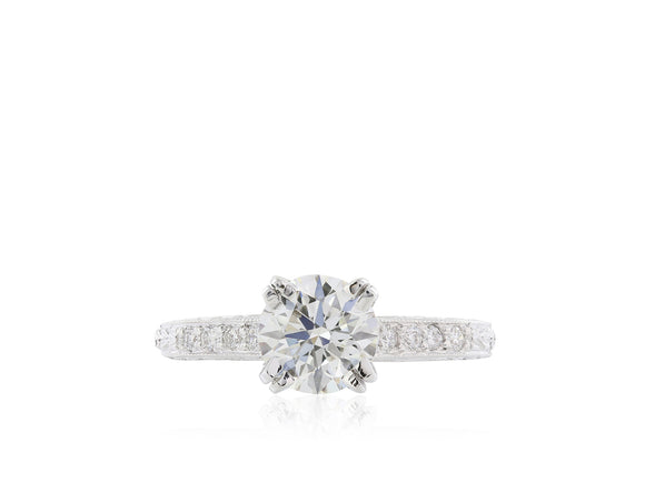 1.21 Carat GIA Certified I/VS2 3X Diamond Solitaire Ring