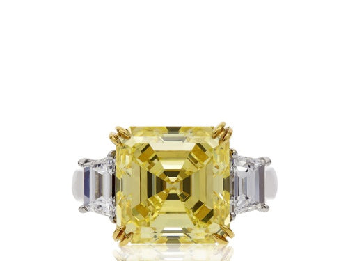 7.03ct FY VS1 GIA  Canary Diamond Ring