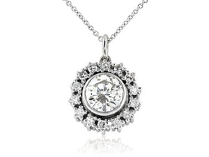 1.46ct Old European Cut Diamond Pendant
