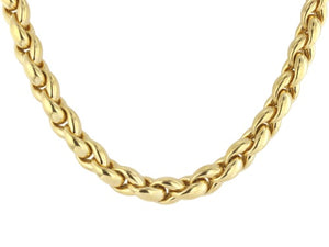 Estate 18kt Gold Heavy Chain Necklace