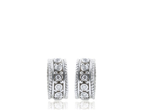 .32 Carat Diamond Hoop Earrings